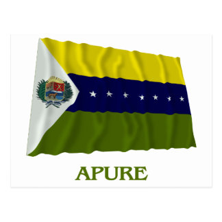 Apure Waving Flag with Name Postcard