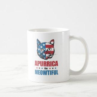 Apurrica the Meowtiful Patriotic Cat Coffee Mug