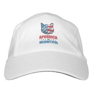 Apurrica the Meowtiful Patriotic Cat Headsweats Hat