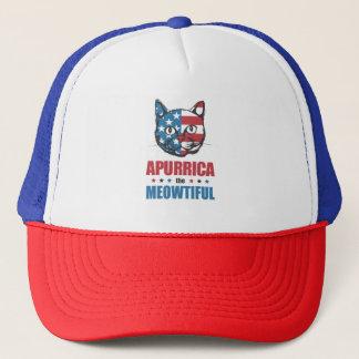 Apurrica the Meowtiful Patriotic Cat Trucker Hat