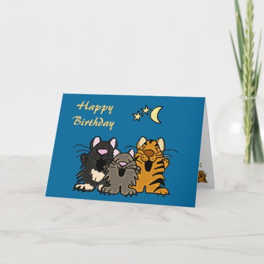 AQ Cats Singing Birthday Card