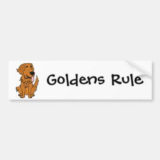 AQ- dibujo animado divertido del perro del golden  Pegatina Para Auto
