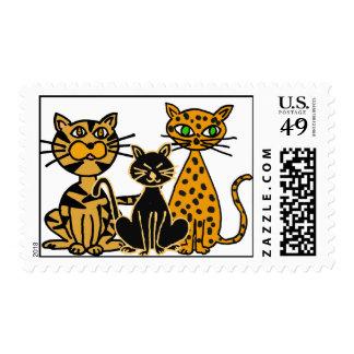 AQ- sellos locos de los gatos