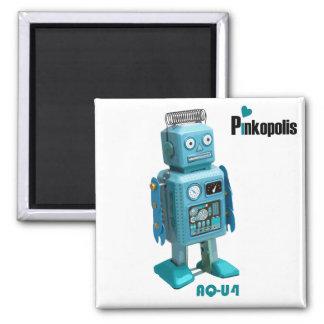 AQ-U4 Retro Robot Magnetism - Aqua Logo Refrigerator Magnets