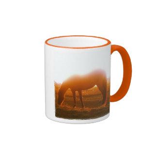 AQHA Horse Grazing at Sunset Ringer Mug