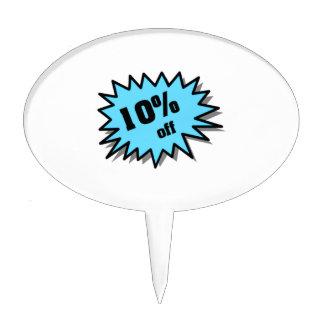 Aqua 10 Percent Off Cake Toppers