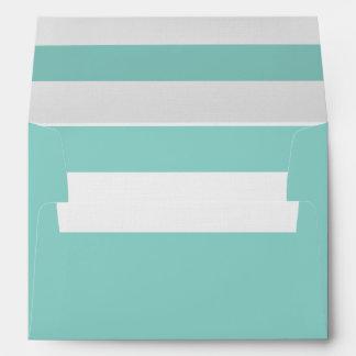 Aqua 5 x 7 Pre-Addressed Envelopes