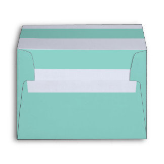 Aqua 5 x 7 Pre-Addressed Envelopes