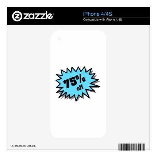 Aqua 75 Percent Off Decals For The iPhone 4
