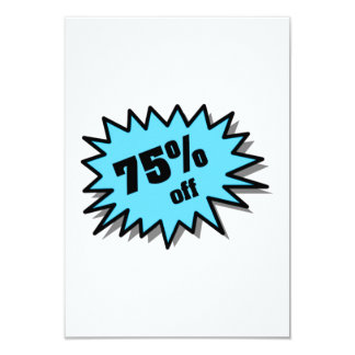 Aqua 75 Percent Off Custom Invitations