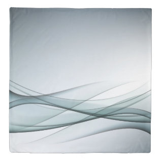 Aqua Abstract (1 side) Queen Duvet Cover at Zazzle
