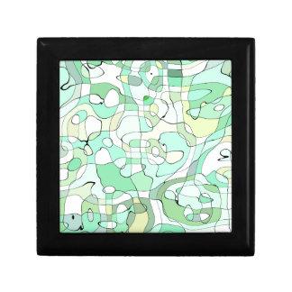 Aqua abstract jewelry box