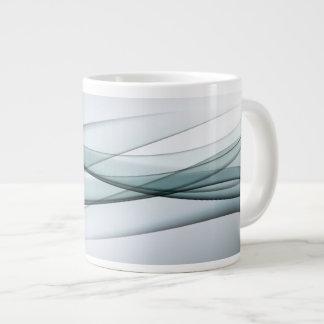 Aqua Abstract Jumbo Mug
