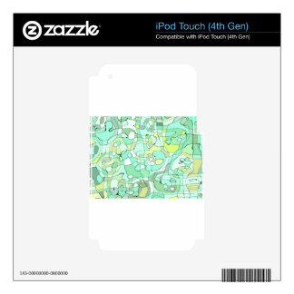 Aqua abstract skin for iPod touch 4G
