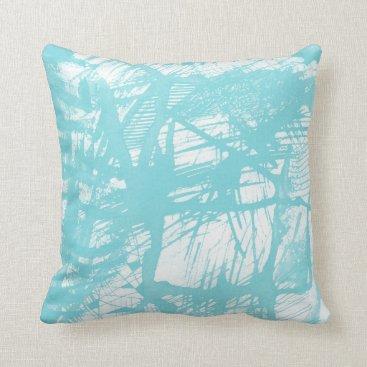 partridgelanestudio Aqua Abstract Throw Pillow