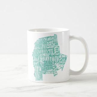 Aqua Addison County Typography Mug