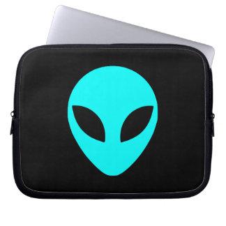 Aqua Alien Head Computer Sleeve