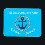"Aqua Anchors Aweigh Aqua Stateroom Door Marker Magnet<br><div class=""desc"">Personalize it for the door of your cabin on your next cruise.</div>"