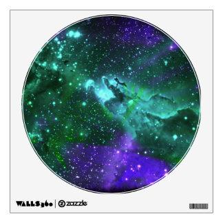 Aqua And Amethyst Nebula Wall Decal