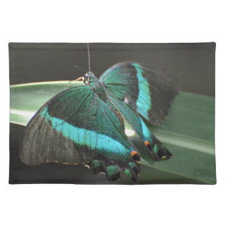 Aqua and Black Butterfly Placemat