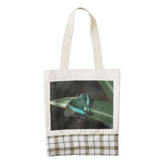 Aqua and Black Butterfly Zazzle HEART Tote Bag