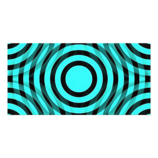 aqua_and_black_interlocking_concentric_circles tarjeta personal