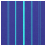 [ Thumbnail: Aqua and Blue Colored Stripes/Lines Pattern Fabric ]
