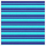[ Thumbnail: Aqua and Blue Lines Fabric ]