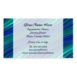 Aqua and blue waves business card