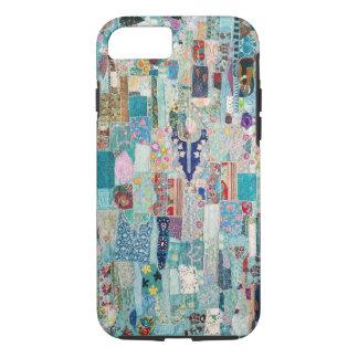 Aqua and Blues Quilt Tapestry Design Phone Case