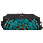 Aqua and Brown Mandala Print Messenger Bag Bag For Laptop