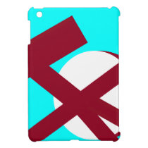 aqua and burgundy portal 2 left template_nu iPad mini cases