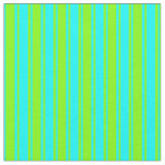 [ Thumbnail: Aqua and Chartreuse Colored Lines Fabric ]