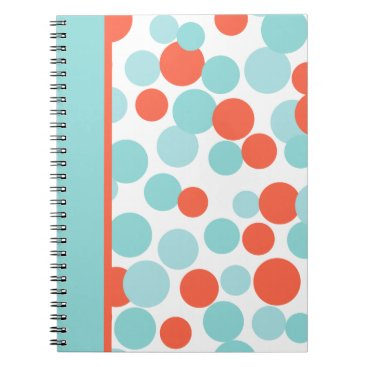 Professional Business Aqua and Coral Notebook