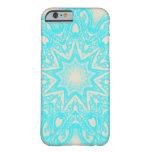 Aqua and cream Mandala pattern iPhone 6 case