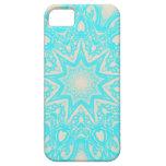 Aqua and cream Mandala pattern iphone cases iPhone 5 Covers