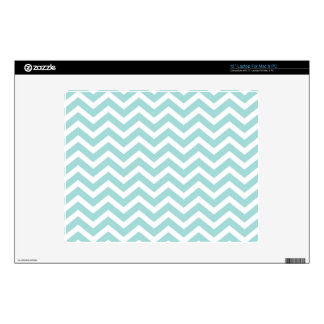 Aqua and gray chevron pattern decal for laptop