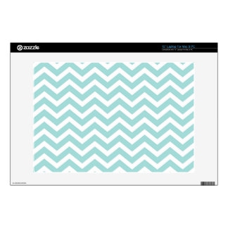 Aqua and gray chevron pattern decals for laptops