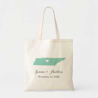 Aqua and Gray Tennessee Wedding Welcome Tote Bag
