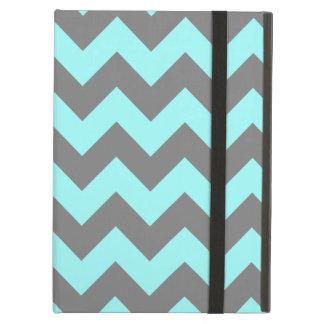 Aqua and Gray Zigzag Case For iPad Air