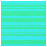 [ Thumbnail: Aqua and Green Lines Pattern Fabric ]
