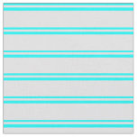 [ Thumbnail: Aqua and Lavender Colored Pattern of Stripes Fabric ]