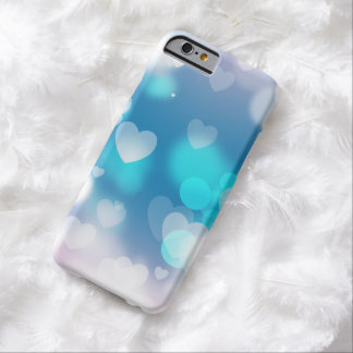Aqua and lavender hearts iPhone 6 case
