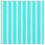 [ Thumbnail: Aqua and Light Yellow Colored Stripes Fabric ]