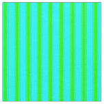 [ Thumbnail: Aqua and Lime Colored Stripes Fabric ]