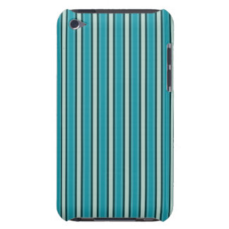 Aqua and Navy Stripes iPod Touch Case