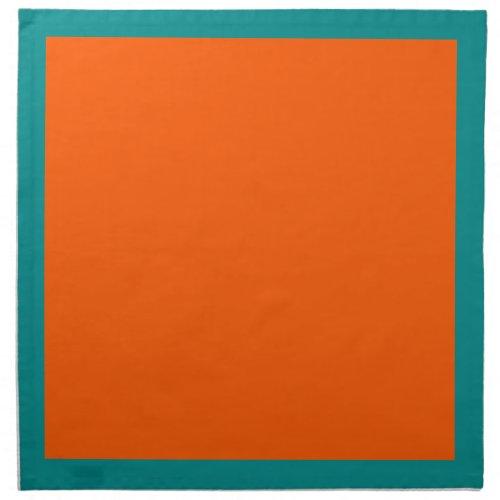Aqua and Orange Napkins