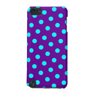 Aqua and Purple Polka Dots iPod Touch 5G Case