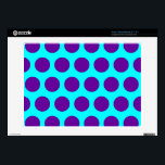 "Aqua and Purple Polka Dots Decal For Acer Chromebook<br><div class=""desc"">Bright aqua and purple polka dot pattern. The design can be tiled ...  changing the dot size. You can also add a personalized text message.</div>"