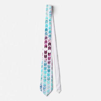 Aqua and Purple Watercolor Arrows Tie